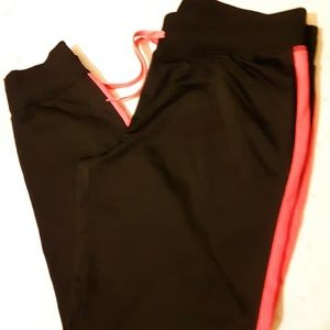 BCG black trimmed in neon pants, size L